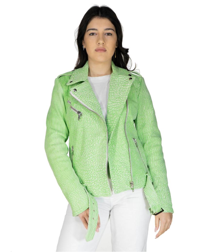 U06 - Men's Genuine Leather Jacket in Aged Brown - 7
