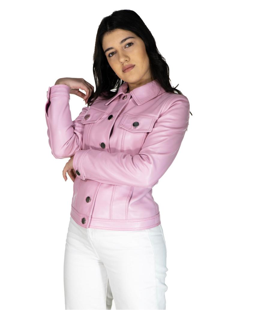 U06 - Men's Genuine soft Green Leather Jacket - 4