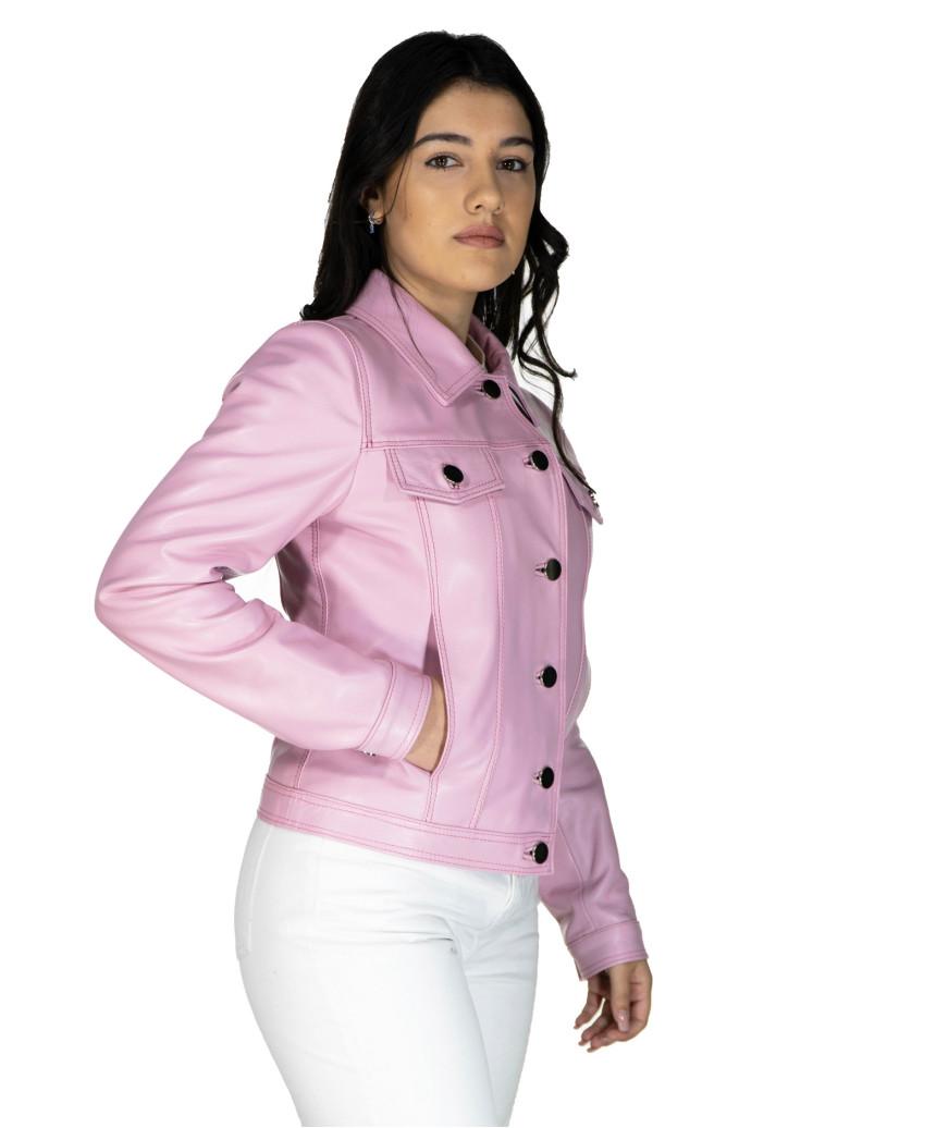 U06 - Men's Genuine soft Green Leather Jacket - 5