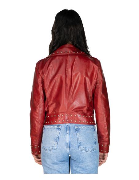 Chiodo Donna - Giacca in Vera Pelle con Cintura colore Nero Morbida - 8