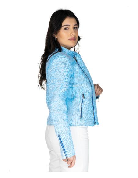 Chiodo Donna - Women Genuine Black Leather Jacket - 1