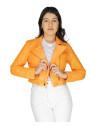 Giulia - Women Jacket of Genuine Soft Black Leather - 5