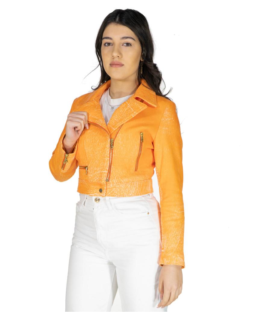 Giulia - Women Jacket of Genuine Soft Black Leather - 6