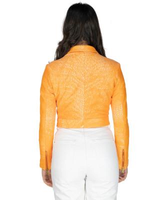 Giulia - Women Jacket of Genuine Soft Black Leather - 7