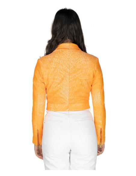 Giulia - Giacca Donna in Vera Pelle colore Nero Morbida - 7