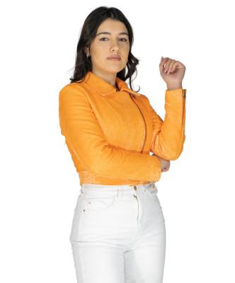 Giulia - Women Jacket of Genuine Soft Black Leather - 8