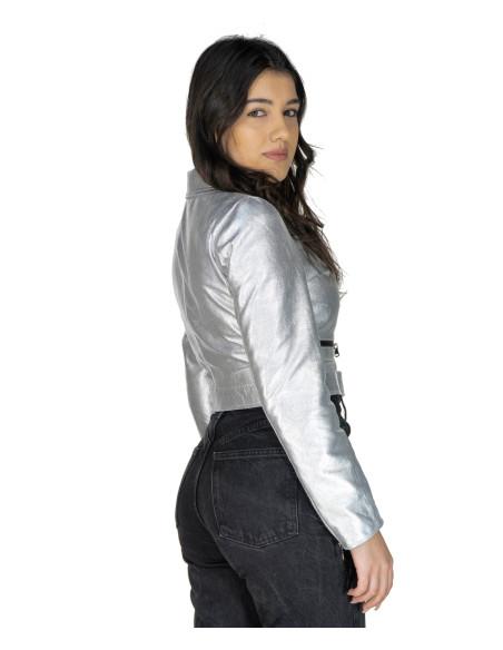 Giulia - Giacca Donna in Vera Pelle colore Cuoio Invecchiato - 6