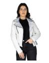 Raff - Women Jacket of Genuine Dark Brown Oil Vintage Leather - 1