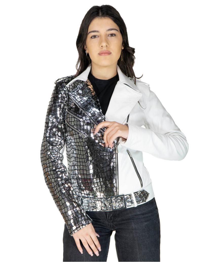 Viola - Giacca Donna in Vera Pelle colore Nero Morbida