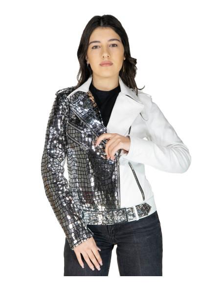Viola - Giacca Donna in Vera Pelle colore Nero Morbida - 1