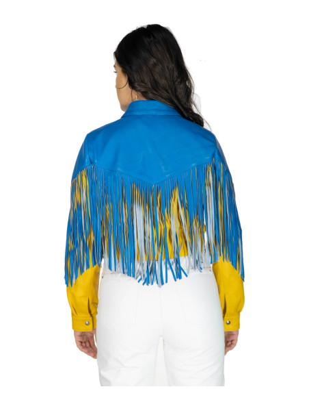 Chiodo Martina - Giacca Donna in Vera Pelle colore Verde Antichizzato - 1