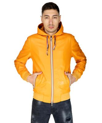 Colima - Women Jacket of Genuine Distressed Dark Brown Leather - 6