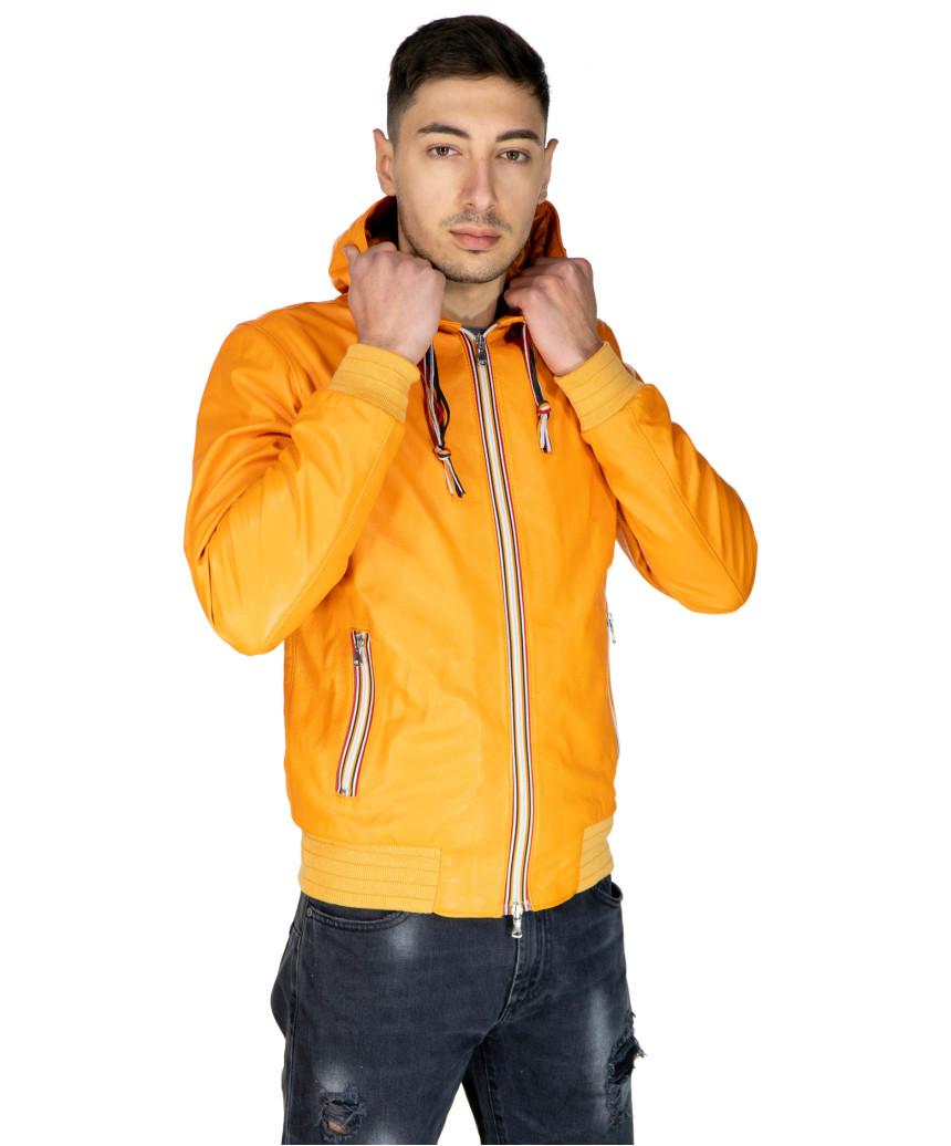 Colima - Women Jacket of Genuine Distressed Dark Brown Leather - 7