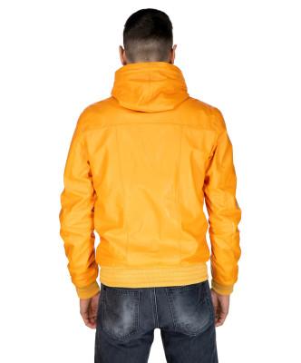 Colima - Women Jacket of Genuine Distressed Dark Brown Leather - 8