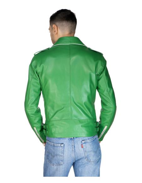 Nebraska - Women Jacket with Hood of Genuine Distressed Dark Gray Leather - 1