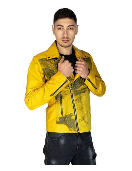Nebraska - Women Jacket with Hood of Genuine Aged Dark Brown Leather - 1