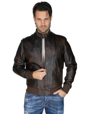 Michelina Cap - Giacca Donna con Cappuccio in Vera Pelle colore Rosso Morbida