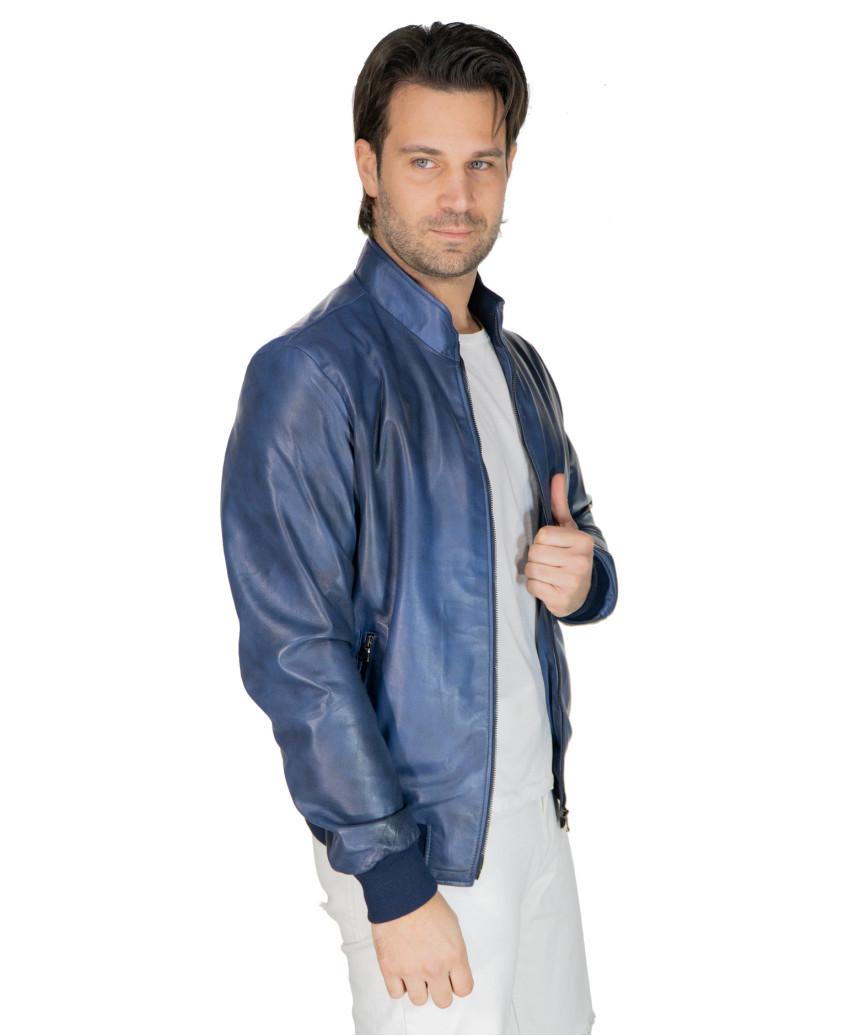 Lasmara - Woman jacket in genuine buffered gray leather