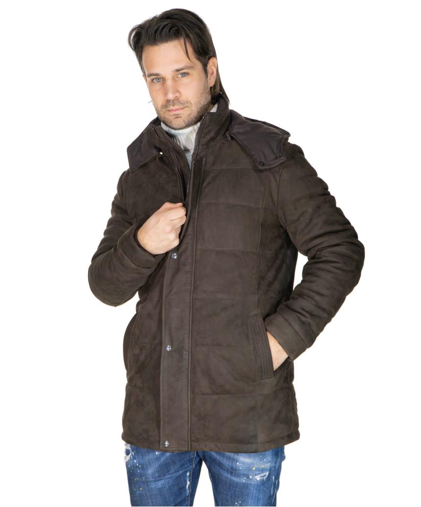 Bomber Napoli - Men's Jacket in Genuine Blue Oil Vintage Leather