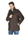Bomber Napoli - Men's Jacket of Genuine Blue Oil Vintage Leather - 1