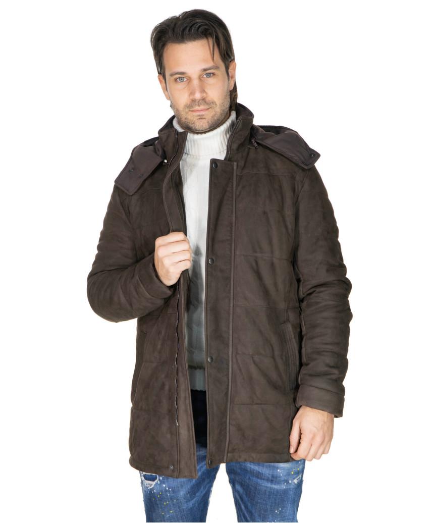 Bomber Napoli - Men's Jacket of Genuine Blue Oil Vintage Leather - 3
