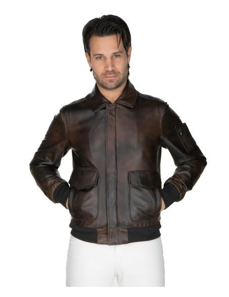 Biker Women - Jacket of Soft Black Genuine Leather - 1