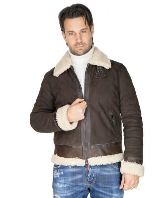 Motociclista Donna - Giacca in Vera Pelle colore Grigio Tamponato