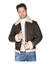 Biker Women - Jacket of Distressed Gray Genuine Leather - 6