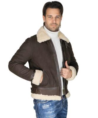 Biker Women - Dark Brown Suede Leather Jacket - 1
