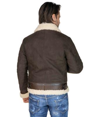 Biker Women - Dark Brown Suede Leather Jacket - 2