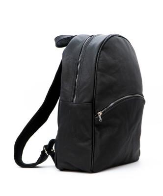 Biker Women - Jacket of Genuine Distressed White Leather - 4