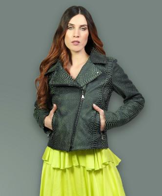 C66 - Women Jacket of Genuine White Distressed Leather - 1