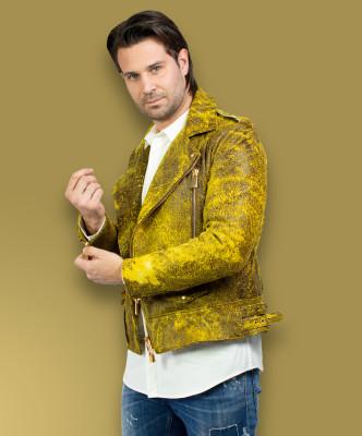 Biker Donna - Giacca in Vera Pelle colore Grigio Morbida