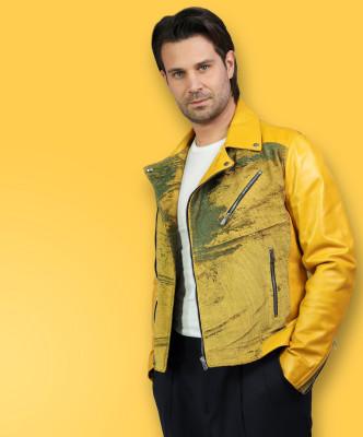 Biker Women - Jacket of Genuine Soft Dark Gray Leather - 6