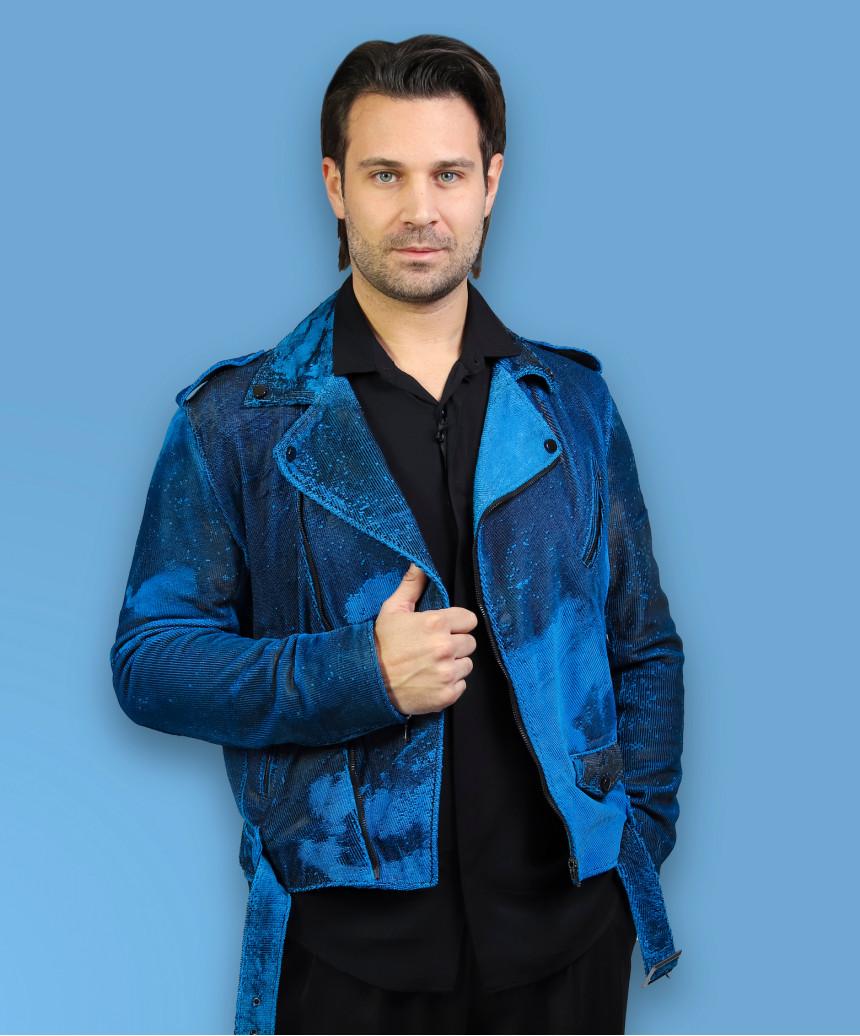 Biker Donna - Giacca in Vera Pelle colore Bianco Tamponato