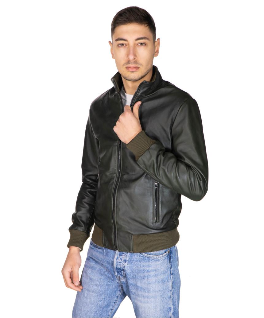 020 - Women Genuine Yellow Leather Jacket Oil Vintage