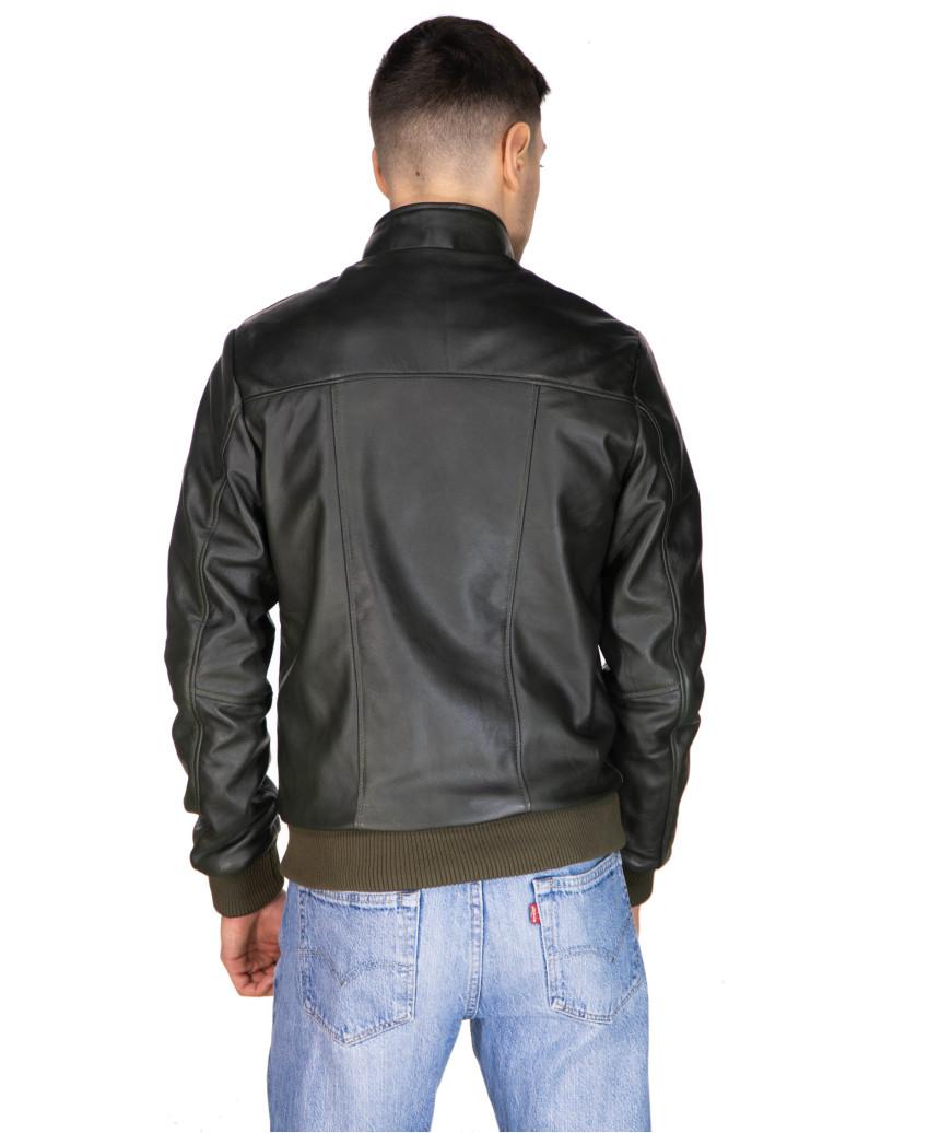 020 - Giacca Donna in Vera Pelle colore Giallo Oil Vintage