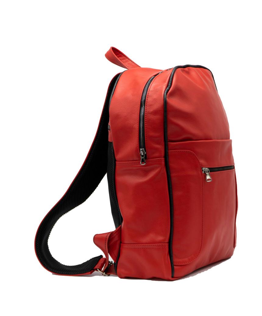 Giulia - Women jacket of Genuine Soft Blue Oil Vintage Leather - 3