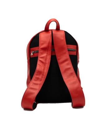 Giulia - Women jacket of Genuine Soft Blue Oil Vintage Leather - 5
