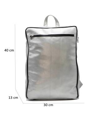 020 - Women Jacket of Genuine Brown Oil Vintage Leather - 4