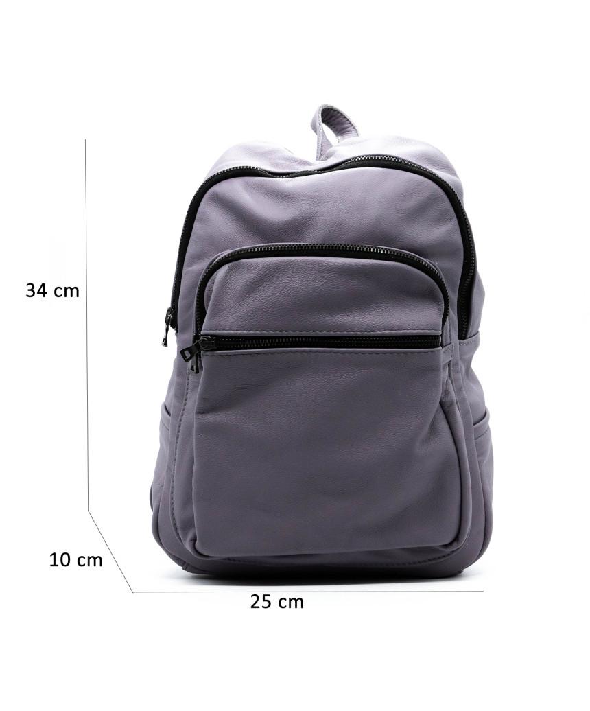 Violetta - Women Jacket of Genuine Soft Brown Leather - 3