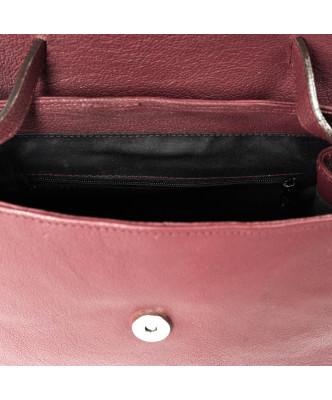 Michelina - Women Jacket of Genuine Blue Oil Vintage Leather - 1