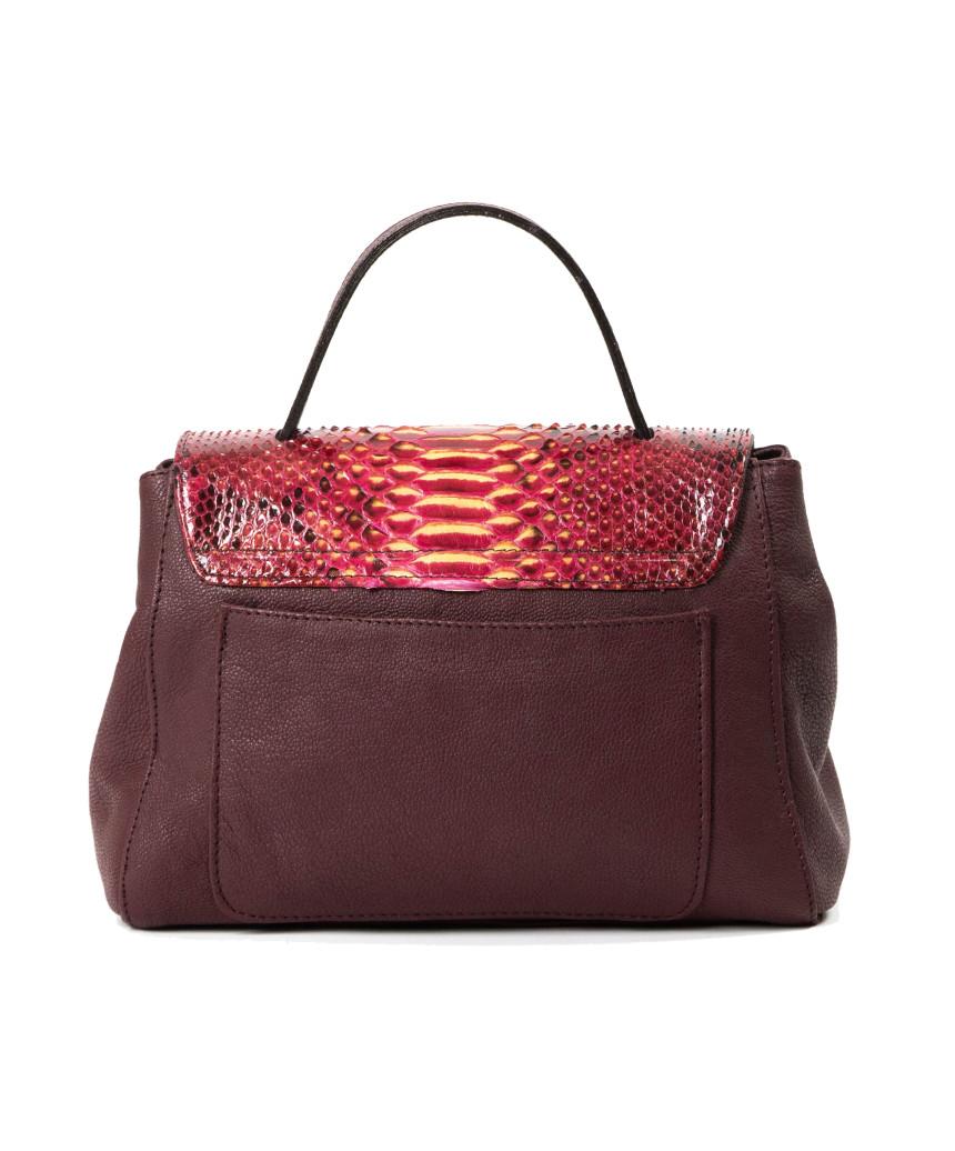 Violetta Bis - Woman Jacket in Genuine Aged Blue Leather