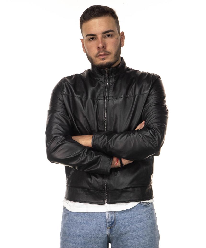 Scialla - Giacca Donna in Vera Pelle colore Giallo Morbida