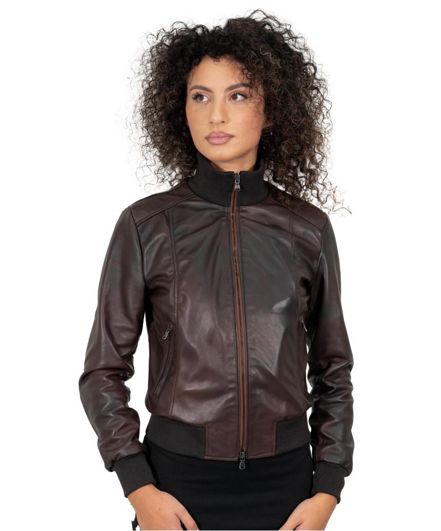 Michelina - Women Jacket of Genuine Soft Yellow Leather - 3