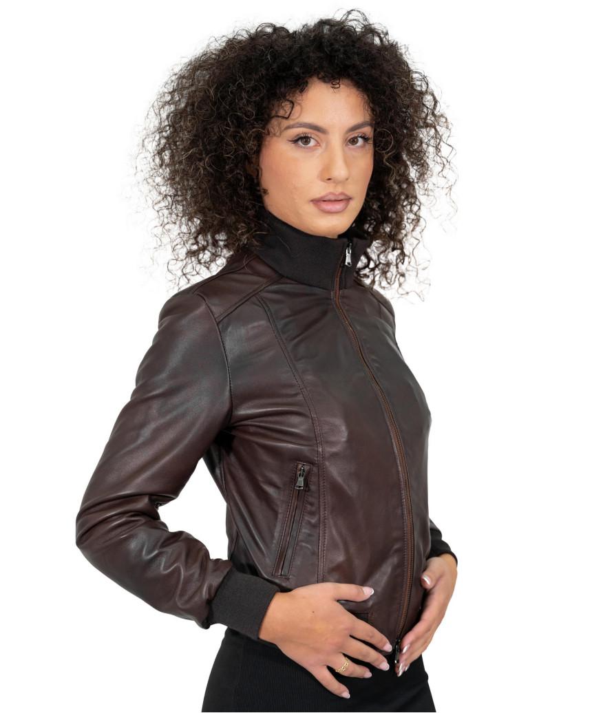Michelina - Women Jacket of Genuine Soft Yellow Leather - 4