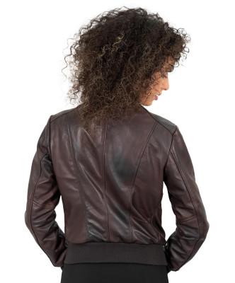 Michelina - Giacca Donna in Vera Pelle colore Rosso Morbida