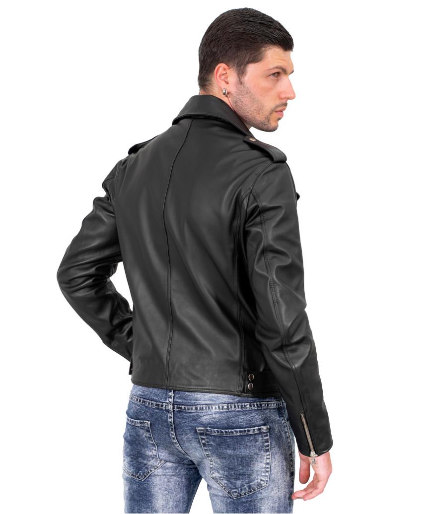 Michelina Bis - Giacca Donna in Vera Pelle colore Nero Morbida