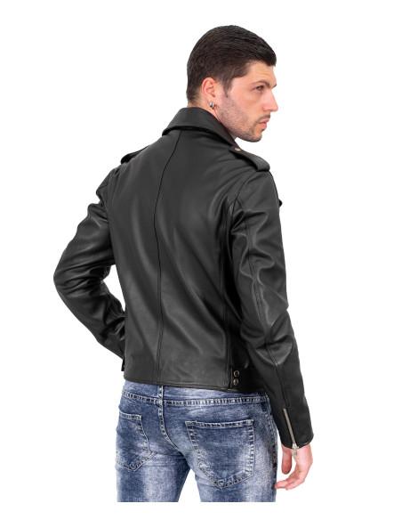 Michelina Bis - Women Jacket of Genuine Soft Black Leather - 1