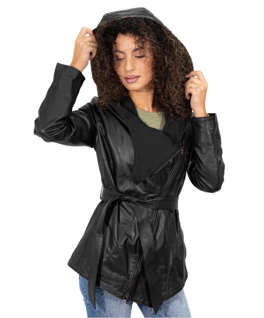 Elena - Women Jacket in Soft Black Genuine Leather